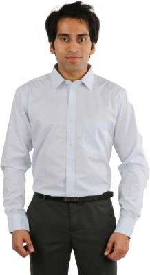 Desar Rana Men's Self Design, Checkered Formal Light Blue Shirt