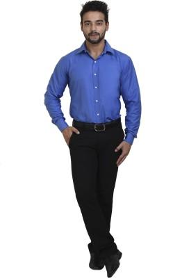 Coffee Bean Men,s Striped Formal Blue Shirt