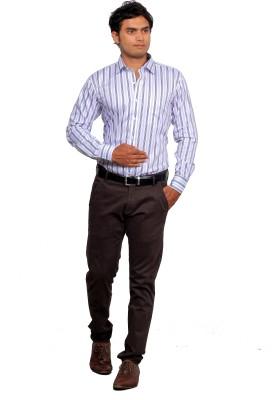 Green Bows Men's Striped Formal Multicolor Shirt