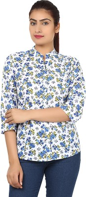 Sharleez Women's Floral Print Casual Multicolor Shirt