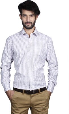 Yorkshire Men's Checkered Formal Grey Shirt