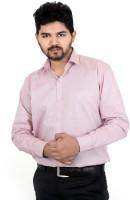 Tt Formal Shirts (Men's) - TT Men's Solid Formal Linen Pink Shirt