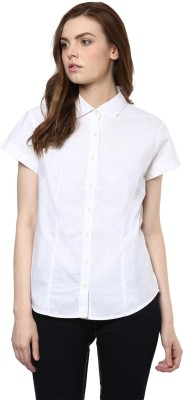 COBB Women's Solid Casual White Shirt