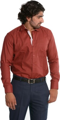 Skybe Men's Solid Casual Maroon Shirt