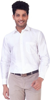 Mark Anderson Men's Solid Casual, Festive, Wedding, Party White Shirt