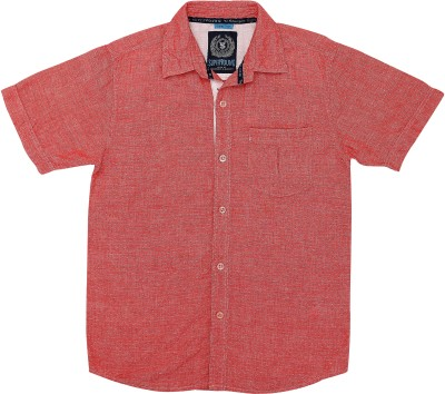 SuperYoung Boy's Striped Casual Red Shirt