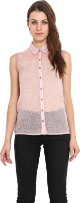 Urban Helsinki Women's Printed Casual Pink Shirt