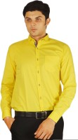 Orojns Formal Shirts (Men's) - Orojns Men's Solid Formal Yellow Shirt