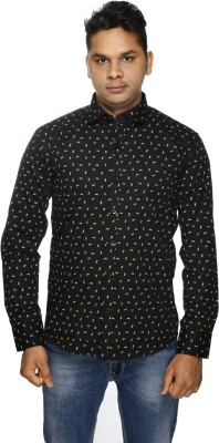 ALBI NYC Men,s, Boy's Printed Casual Black Shirt