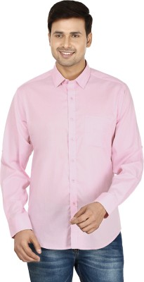Le Luxe Men's Solid Formal Pink Shirt