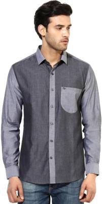 I Know Men's Solid Party Grey Shirt