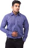 Indian Weller Men's Printed Formal Blue ...