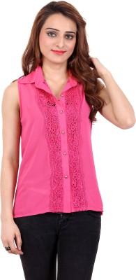 Nagpal Radio Corp Women's Floral Print Party Pink Shirt