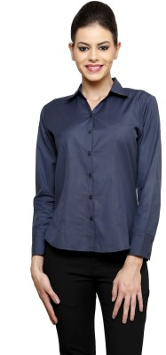 Apoyo Women's Solid Formal Grey Shirt