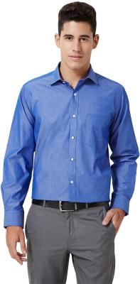 University of Oxford Men's Solid Formal Blue Shirt