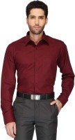 Stop By Shoppers Stop Formal Shirts (Men's) - Stop By Shoppers Stop Men's Solid Formal Maroon Shirt