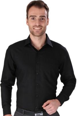 Magson Ace Men's Solid Formal Black Shirt