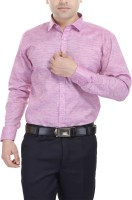Black Mirror Formal Shirts (Men's) - Black Mirror Men's Self Design Formal Pink Shirt