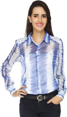 20 Dresses Women's Printed Casual Blue, White Shirt