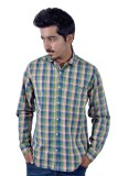 Tenor Men's Checkered Casual Beige, Gree...
