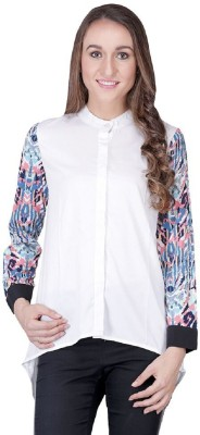 Shiks Vogue Women's Solid Casual White, Multicolor Shirt
