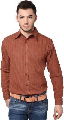 Punk Men's Paisley Casual Orange Shirt