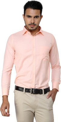 American Cult Men's Solid Formal Reversible Orange Shirt
