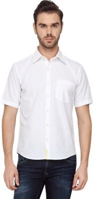 Cross Creek Men's Solid Casual White Shirt