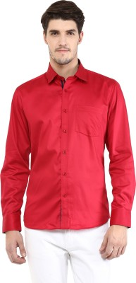 FUNK Men's Solid Casual Red Shirt