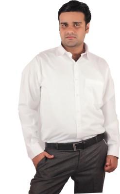 RIPARV Men's Solid Formal White Shirt