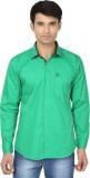 Fashion Flag Men's Solid Casual Green Sh...