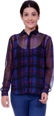 Lamora Women's Checkered Casual Multicolor Shirt