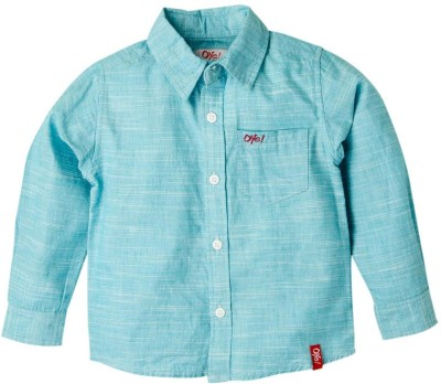 Oye Baby Boy's Solid Casual Blue Shirt