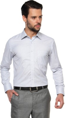 British Club Men's Checkered Formal Grey Shirt