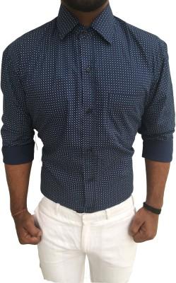 pika Men,s Printed Casual Blue Shirt