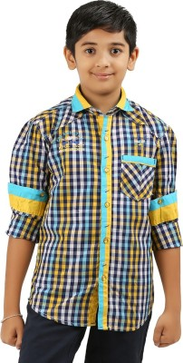 Cub Kids Boy's Printed Casual Yellow Shirt