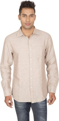 SmartCasuals Men's Solid Casual Brown Shirt