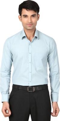 VAPE Men's Solid Casual Light Green Shirt