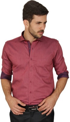 Redcountry Men's Printed Casual Red Shirt