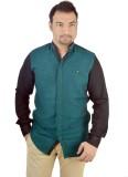 MTN Men's Solid Casual Green Shirt
