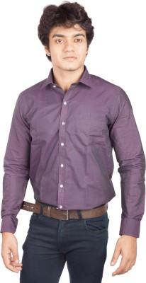 A Flash Men's Solid Formal Purple Shirt