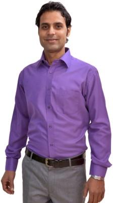 AVS Polo Men's Solid Formal Purple Shirt