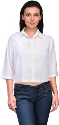 Zachi Women's Solid Casual White Shirt