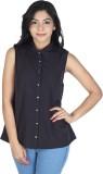 So Urban Women's Solid Casual Black Shir...