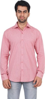 Rollinia Men,s Checkered Casual Red Shirt