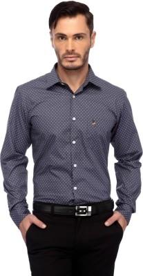 Frank Jefferson Men's Printed Party Grey Shirt