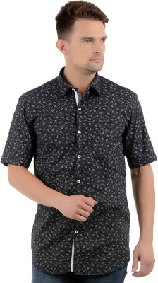 Cairon Men's Printed Casual Black Shirt