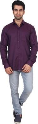 Rollinia Men,s Solid Casual Purple Shirt