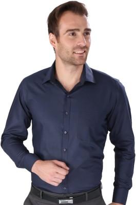 Magson Elite Men's Solid Formal Dark Blue Shirt