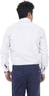 Aces Blue Men's Self Design Formal Purple Shirt